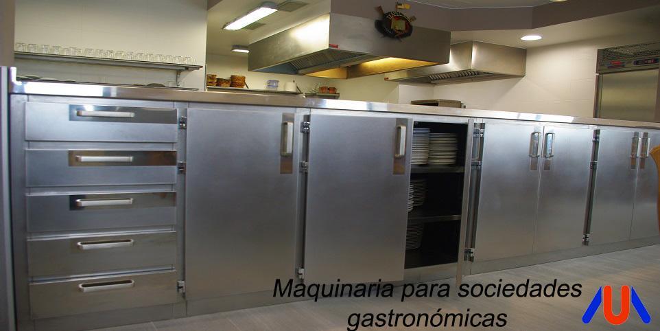 maquinaria y mobiliario en acero inoxidable a medida o estandar para sociedades gastronómicas y txokos. maquinaria para hostelería pensada para las sociedades gastronómicas