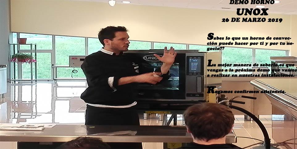 Demo del horno UNOX. Nuestro amigo Pablo nos hará una gran demo lo que podemos hacer con el horno de convección.